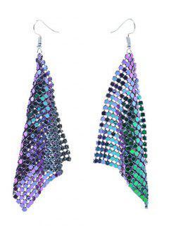 Sparkly Geometric Disc Hook Earrings