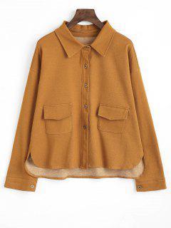 Buttons Flap Pockets Shirt - Ginger Xl