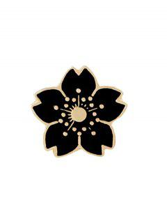 Tiny Cute Flower Brooch - Black