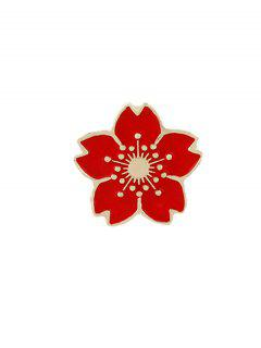Tiny Cute Flower Brooch - Red