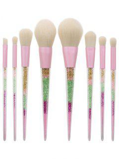 8 Pcs Glitter Powder Handle Makeup Brush Set