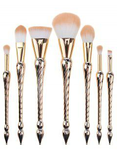 7 Pieces Pointed Scepters Handle Makeup Brush Set - Rose Gold