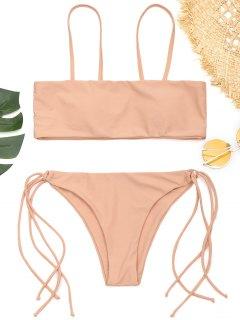 Cami Gepolsterter String Badeanzug - Pinkbeige S