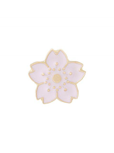 womens Tiny Cute Flower Brooch - PINK  Mobile