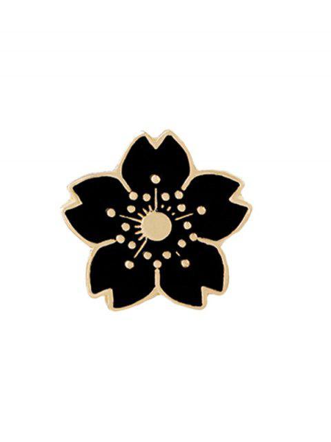 Winzige niedliche Blumen Brosche - Schwarz  Mobile