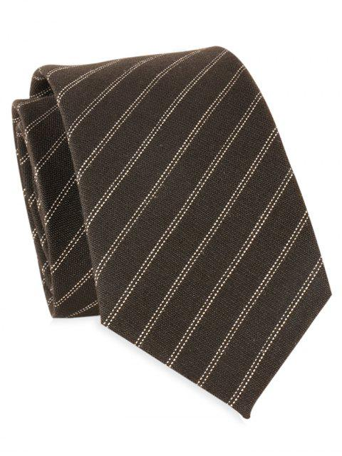 Double Stripes 6CM Largeur Cravate - Noir  Mobile
