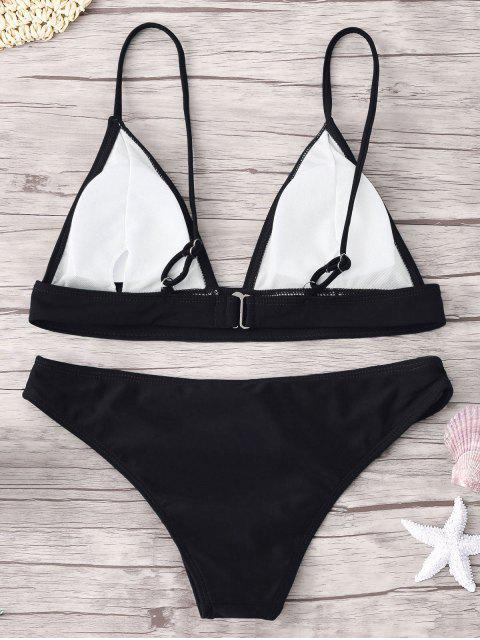 shop ZAFUL Padding Bikini Set - BLACK S Mobile