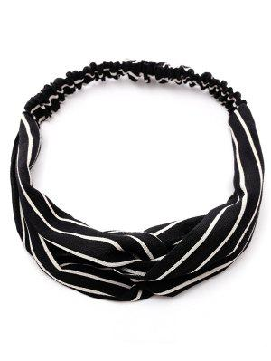 Striped Two Tone Elastic Hair Band