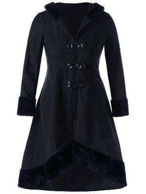 Manteau à Capuche Lacé Grande Taille