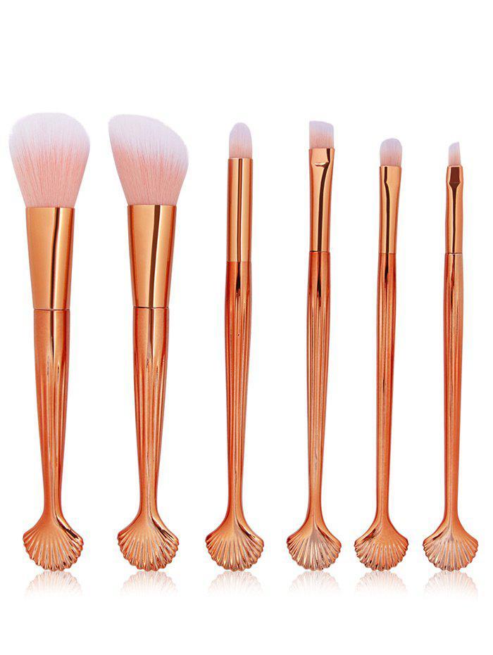 6 Pcs Seashell Makeup Brush Set 236551001