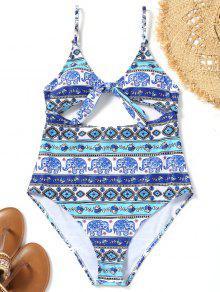 طبع قطع عالية قطع ملابس السباحة - Xl