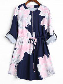 Robe à Manches Courtes - Bleu Violet Xl