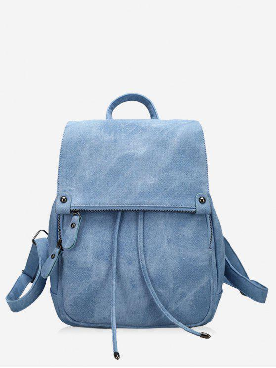 latest PU Leather Multi Function Backpack With Handle - BLUE
