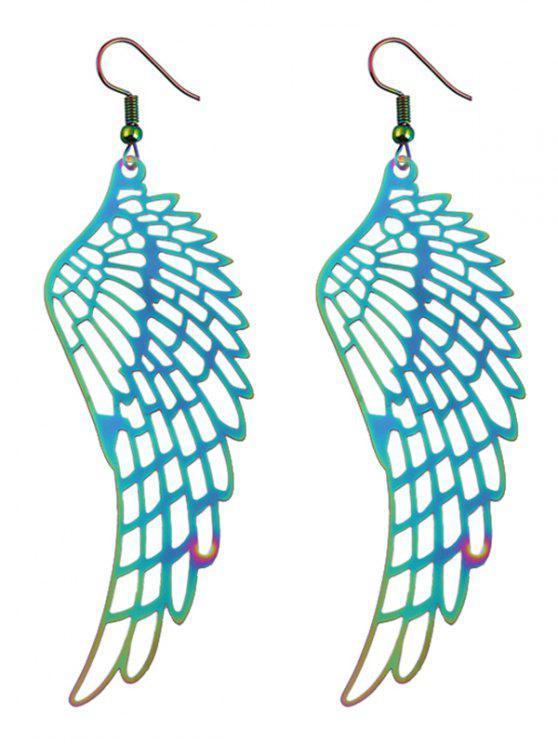 سبائك الملاك الجناح إسقاط أقراط - مزيج ملون