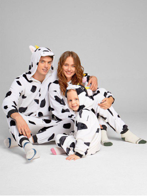 مطابقة الأسرة عيد الميلاد البقر البقر الحيوان نيسيي منامة - أبيض وأسود طفل 130