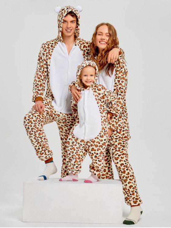 بيجامة للعائلة على شكل حيوان الفهد - نمط طباعة ليوبارد أبي ل