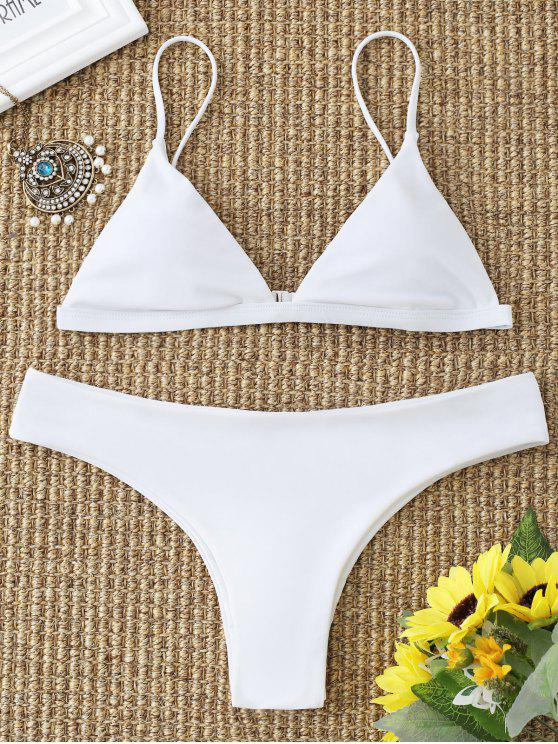 buy Cami Padded Bathing Suit - WHITE L