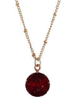 Natural Stone Round Necklace - Valentine