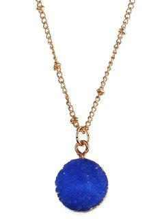 Natural Stone Round Necklace - Royal
