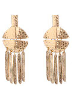 Alloy Fringed Statement Earrings - Golden
