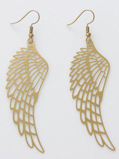 Alloy Angel Wing Drop Earrings - Golden