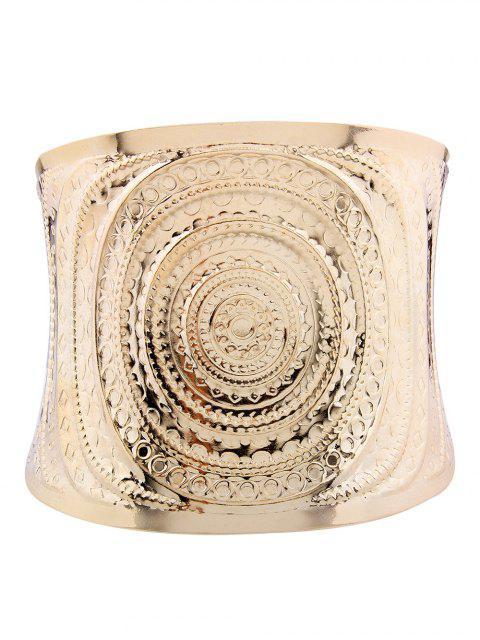 Pulsera de brazalete de metal en espiral - Dorado  Mobile