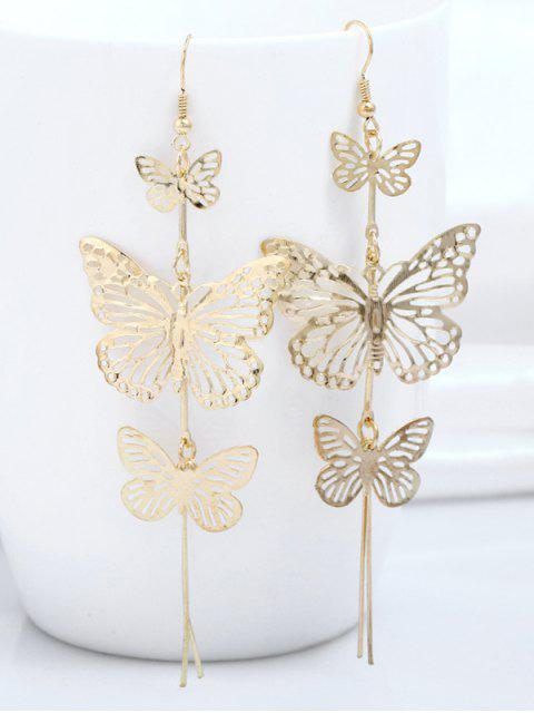 chic Alloy Layered Butterfly Earrings - GOLDEN  Mobile
