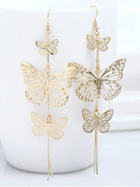 Aleación de pendientes de mariposa en capas - Dorado  Mobile