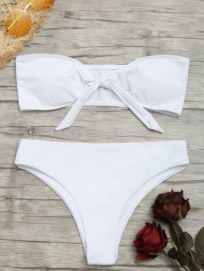Bandeau Front Tied Bikini Set