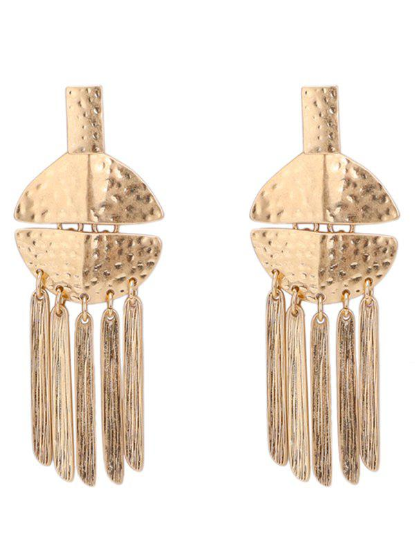 statement alloy fringed earrings