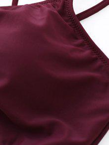 Tiras De De M Vino Grandes 225;s 2xl Rojo Rayas Bikini Conjunto A qSwpxax1t