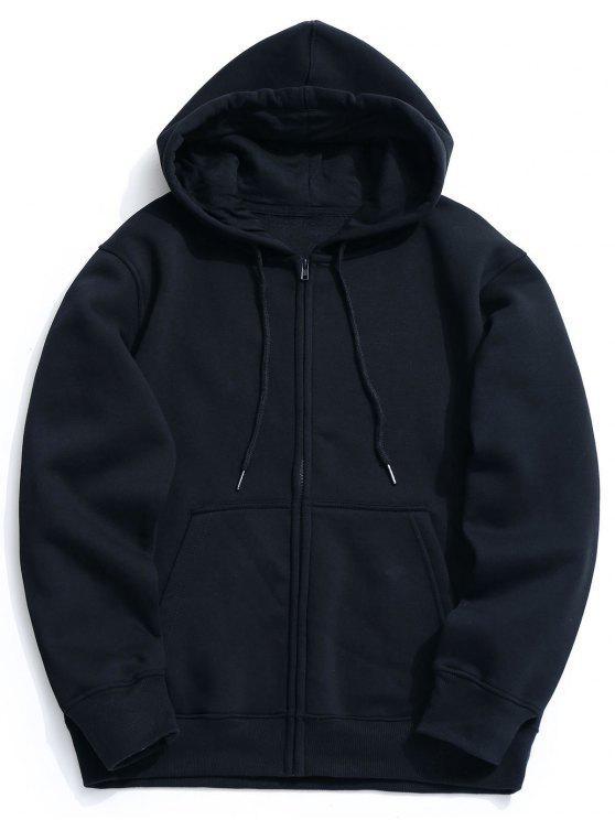 shops Fleece Kangaroo Pocket Zip Hoodie - CADETBLUE L