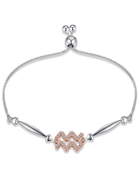 Sternzeichen Silberkette Armband - Wassermann