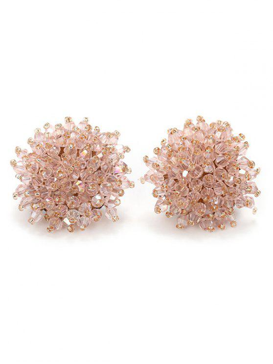 eb95d8f9b 9% OFF] 2019 Artificial Crystal Floral Clip On Earrings In LIGHT ...