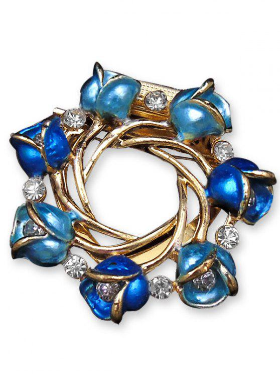 Rose Branch Oil Drip Brooch - Azul