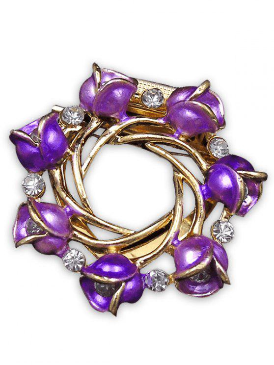 Rose Branch Oil Drip Brooch - Roxo