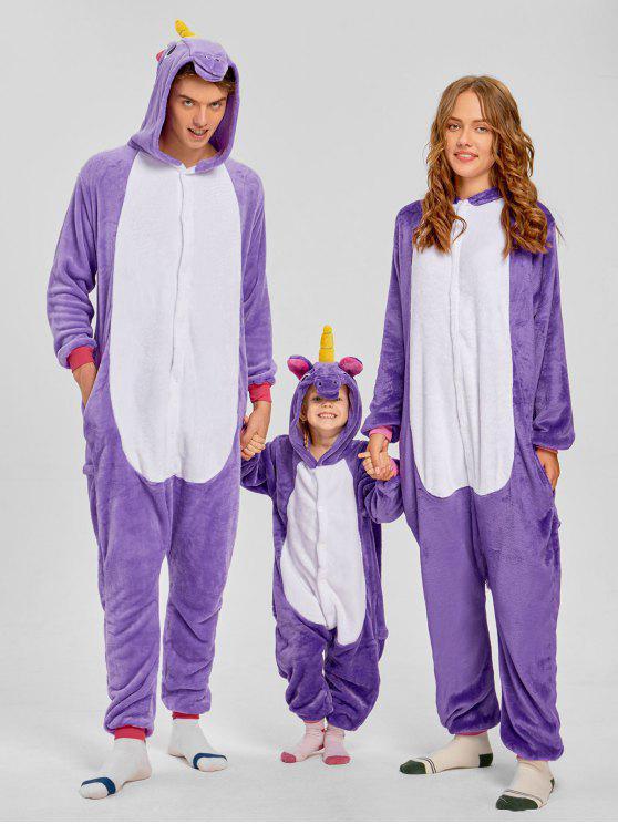 يونيكورن الحيوان مطابقة الأسرة عيد الميلاد نيسيي منامة - أرجواني أبي ل