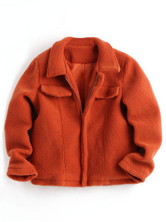 womens Zipper Shearling Jacket - JACINTH L