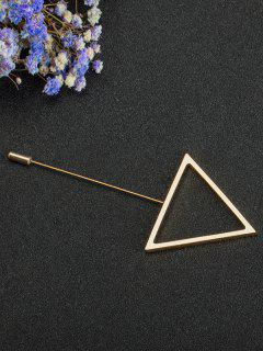 Alloy Triangle Simple Brooch - Golden