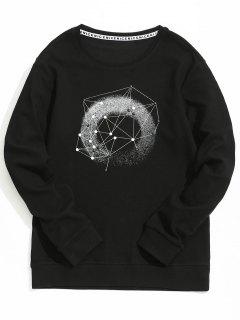Studded Graphic Sweatshirt - Black L