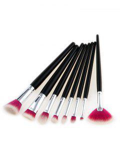 8Pcs Multipurpose Two Tone Hair Beauty Makeup Brushes - Rose + White