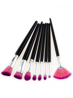 8Pcs Multipurpose Two Tone Hair Beauty Makeup Brushes - Pink And Purple