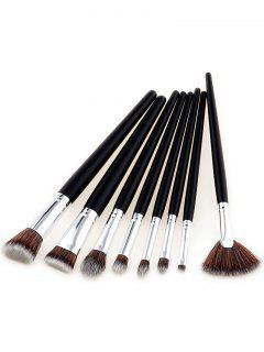 8Pcs Multipurpose Two Tone Hair Beauty Makeup Brushes - Deep Brown