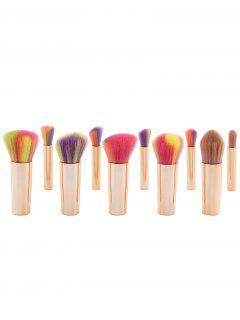 10Pcs Multipurpose Detachable Ombre Makeup Brushes Set - Rose Gold