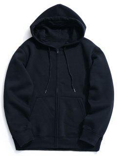 Fleece Kangaroo Pocket Zip Hoodie - Cadetblue 2xl