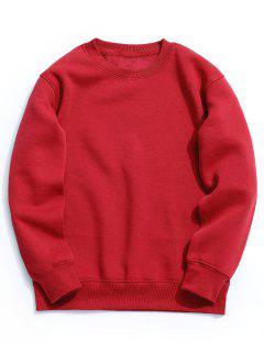 Fleece Mens Crew Neck Sweatshirt - Bright Red L