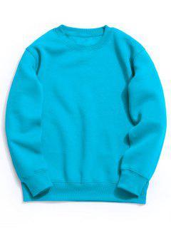 Fleece Mens Crew Neck Sweatshirt - Lake Blue S