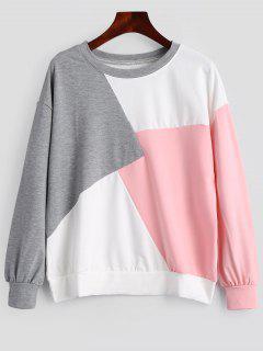 Contrast Crew Neck Sweatshirt - Multi Xl