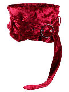 Hebilla Redonda De Metal Decorado Damas Amplia Cintura Cinturón - Rojo