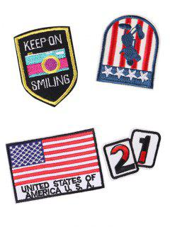 American Flag Star Design Embroidered Patches